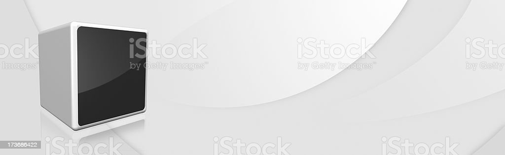 banner cube royalty-free stock photo