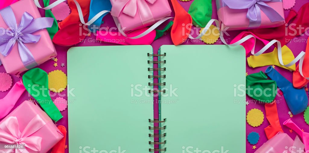 Banner Festive background decorative composition materials for celebration and decoration. royalty-free stock photo