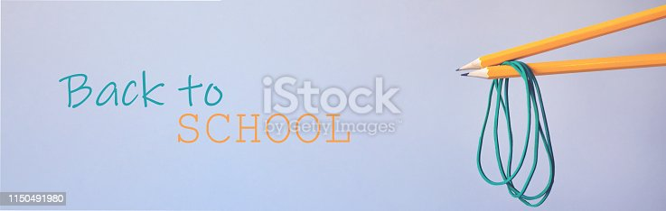 istock Banner for website or facebook back to school. 1150491980