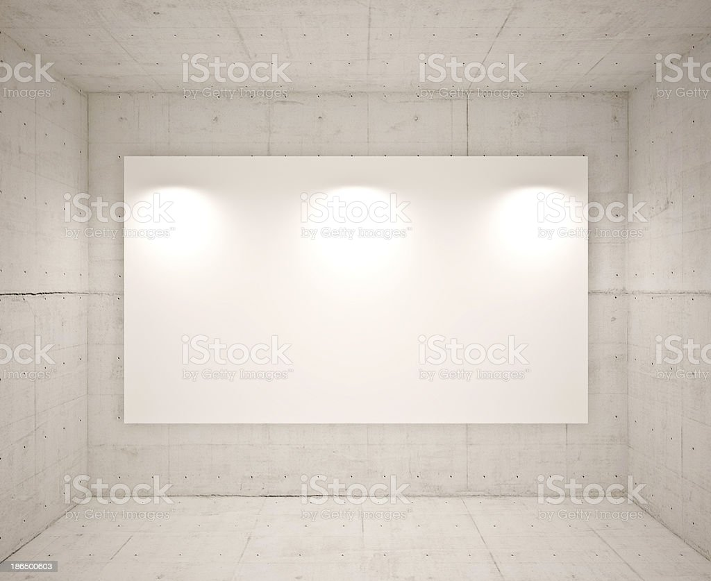 Banner on wall royalty-free stock photo