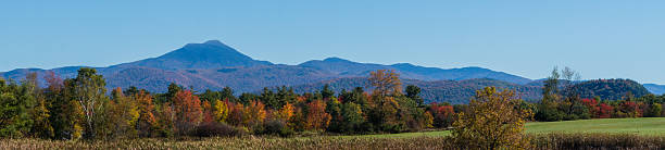 banner picture of Green Mountains in autumn stock photo