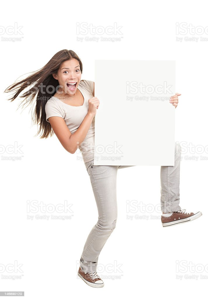 Banner poster woman stock photo