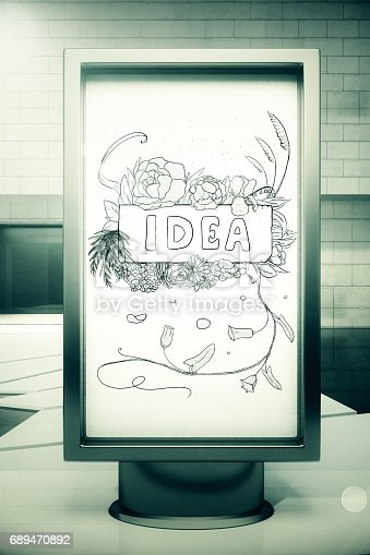 istock Banner with idea sketch 689470892