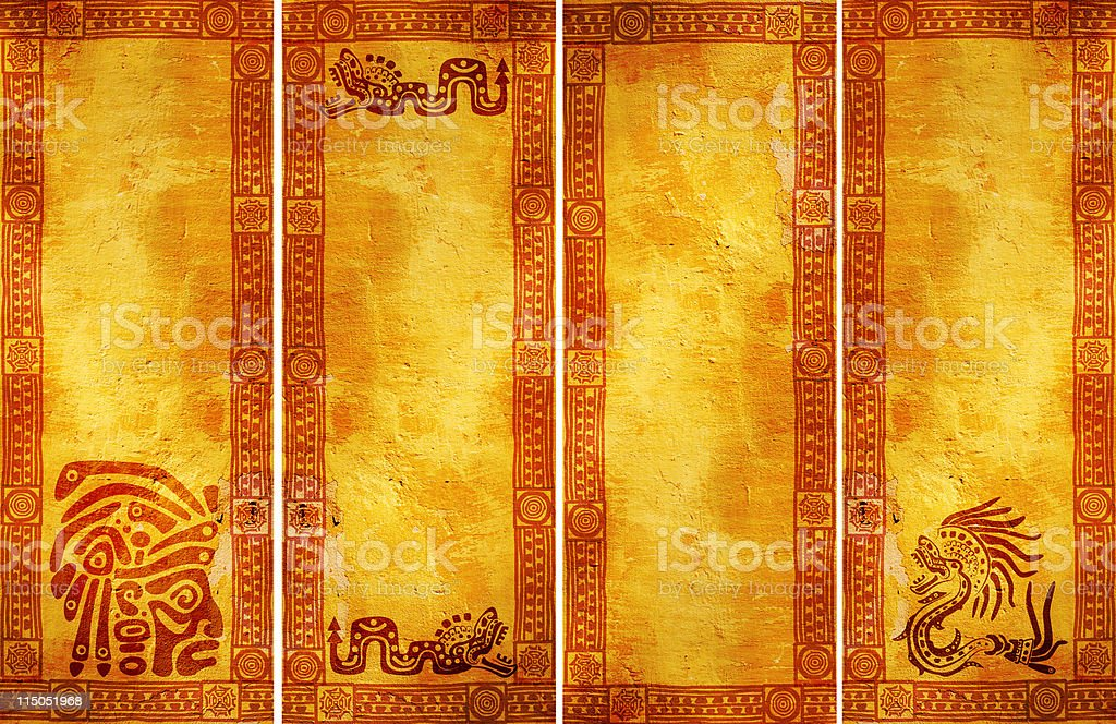 Banners with American Indian traditional patterns royalty-free stock photo