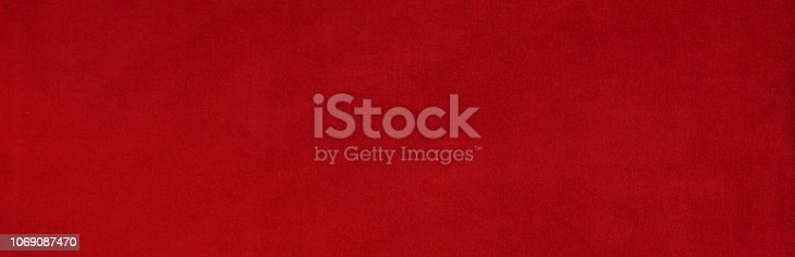 Banner.velvet texture background red color. Christmas festive baskground. expensive luxury, fabric, material, cloth.Copy space.