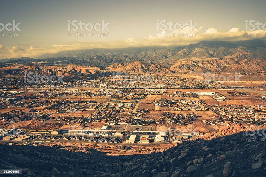 Banning California Panorama stock photo