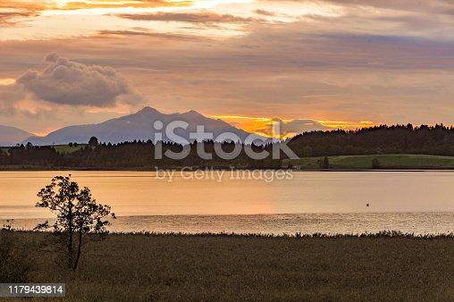 istock Bannwaldsee Lake at Dusk, Schwangau, Germany 1179439814