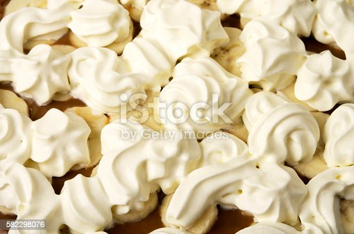 Banoffee pie with cream decoration