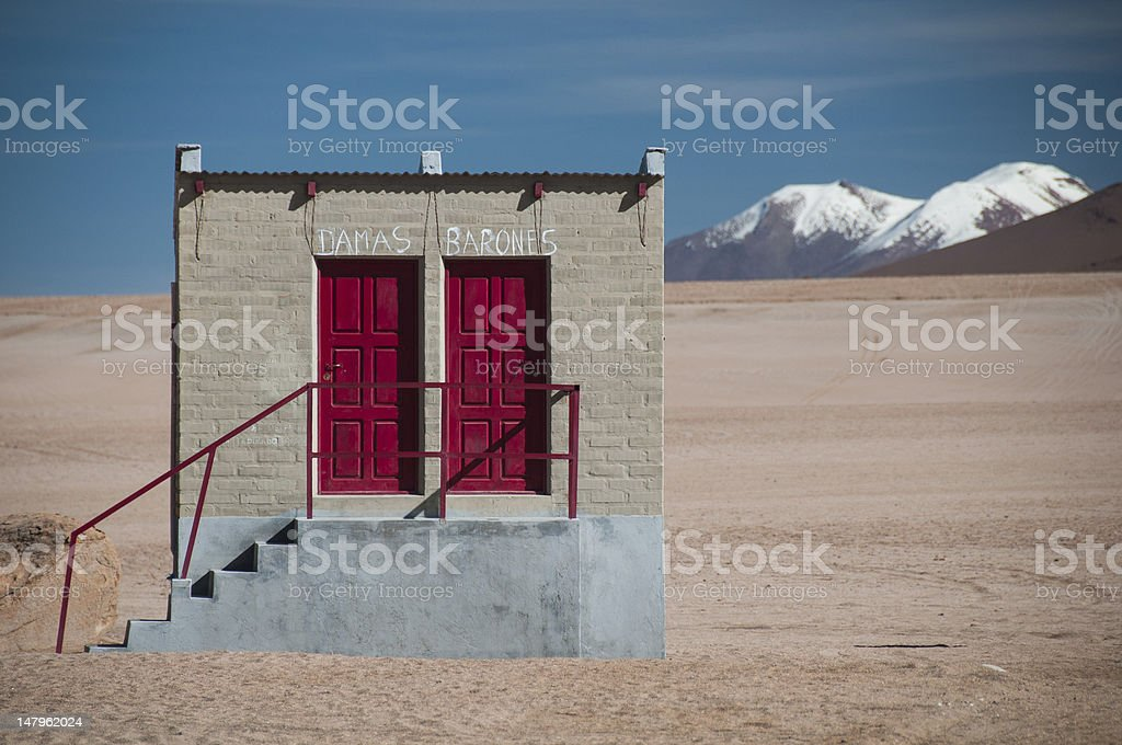 Banos in Bolivia stock photo