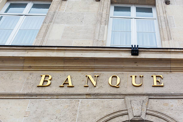 Banque Sign stock photo