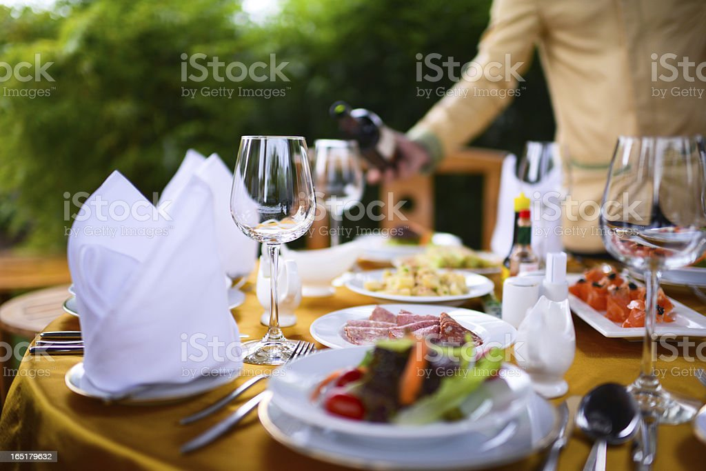Banquet and Dinner Party stock photo