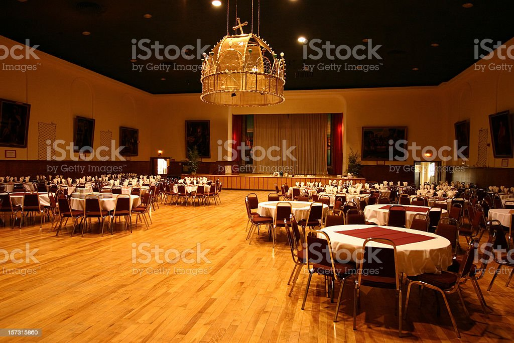 Banquet Hall stock photo