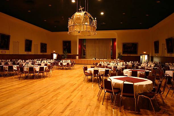 bankettsaal hall - partyraum stock-fotos und bilder