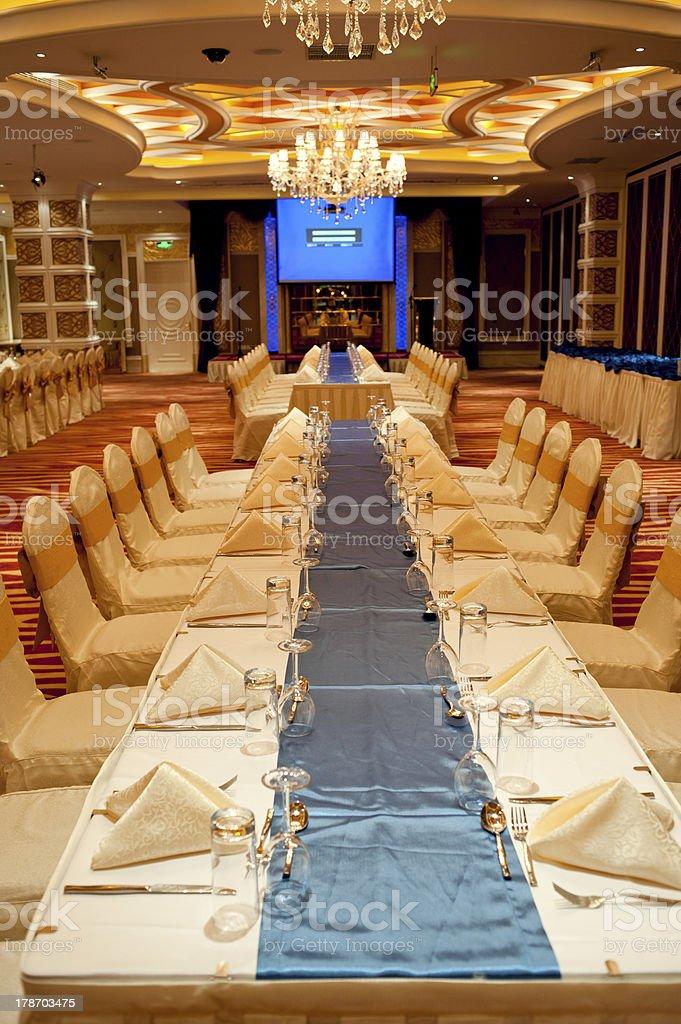Banquet hall, restaurant stock photo