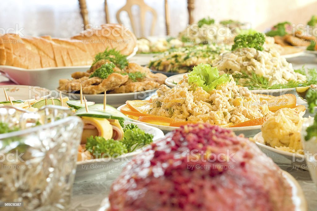 Banquet in the restaurant royalty-free stock photo