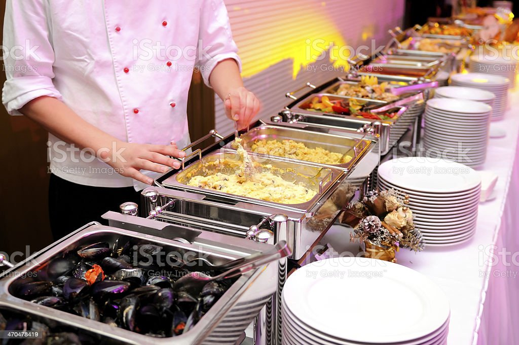 Banquet party stock photo