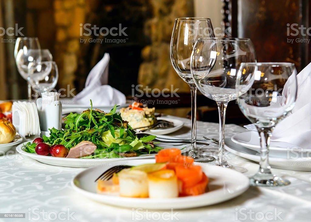 Banquet restaurant table – Foto