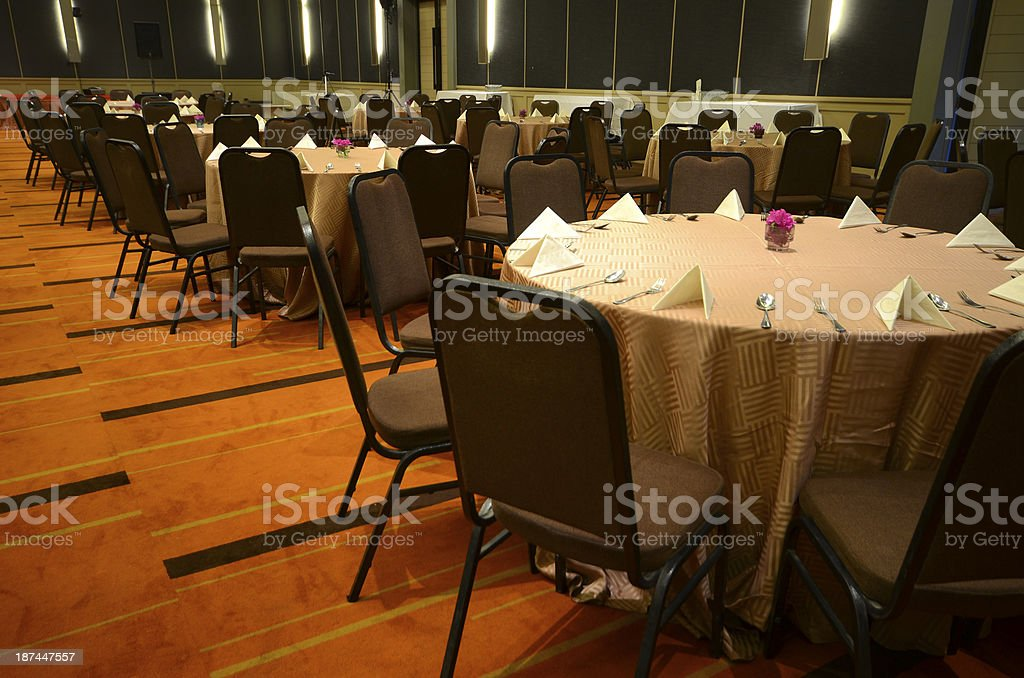 Banquet rooms. stock photo