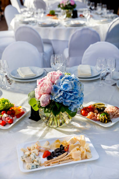 26 Round Table Buffet Stock Photos Pictures Royalty Free Images Istock