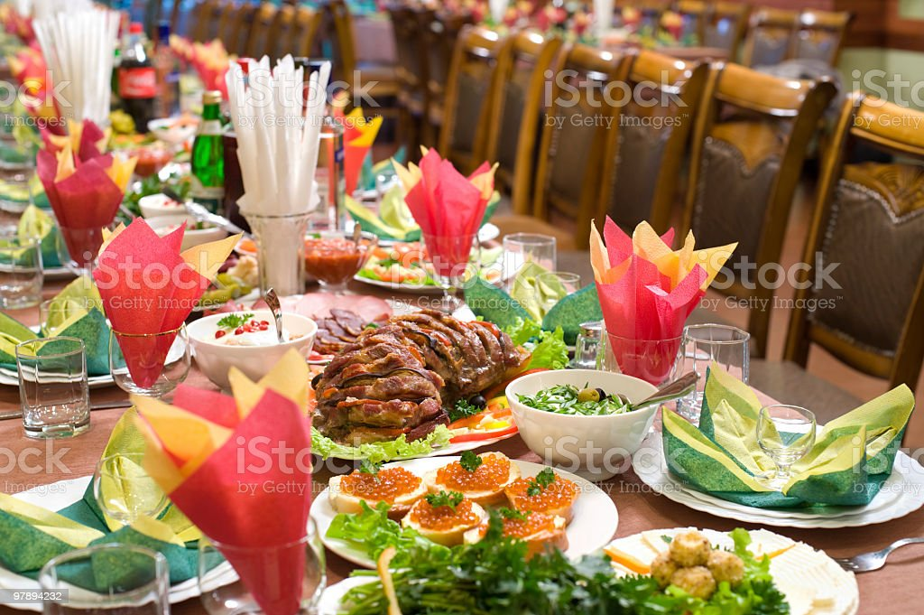 banquet table royalty-free stock photo