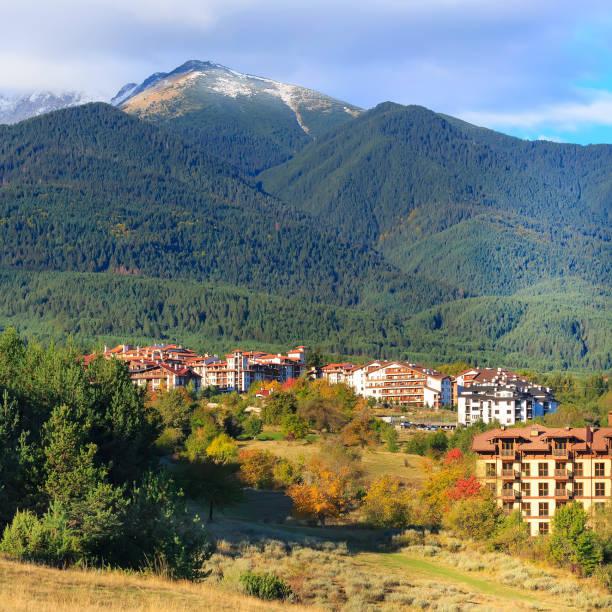 Bansko, Pirin mountains panorama, Bulgaria stock photo
