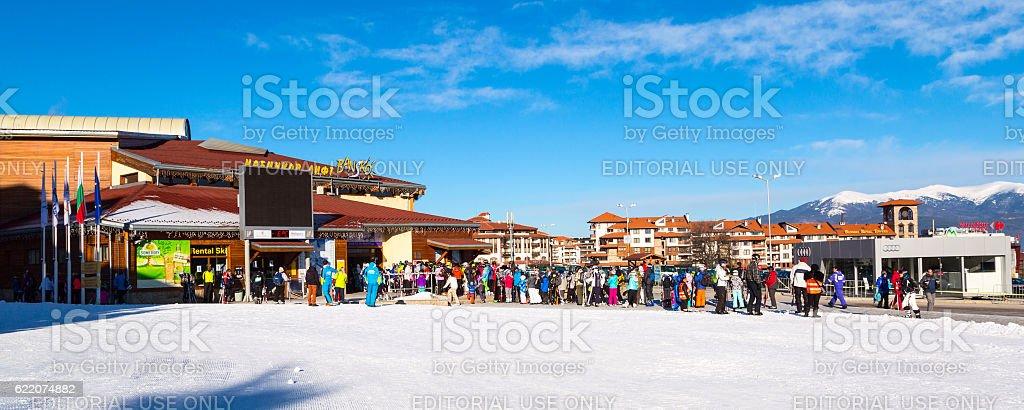Bansko ski station, cable car lift, Bulgaria stock photo
