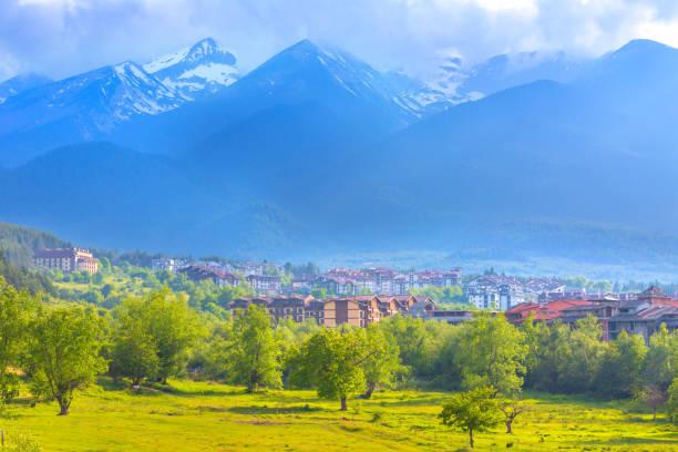 Bansko summer panorama and mountains, Bulgaria stock photo