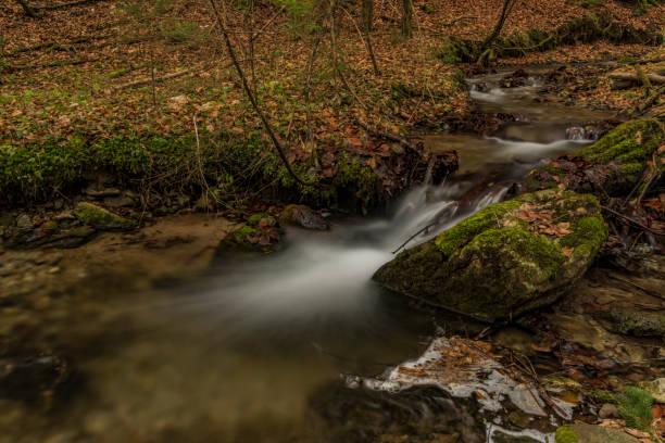 Bansky creek in autumn morning near Spania Dolina - foto stock