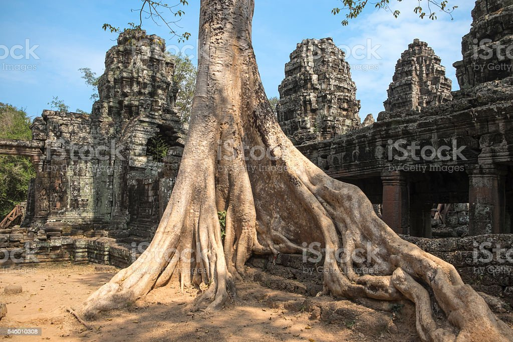 Banteay Kdei at Angkor, Cambodia stock photo