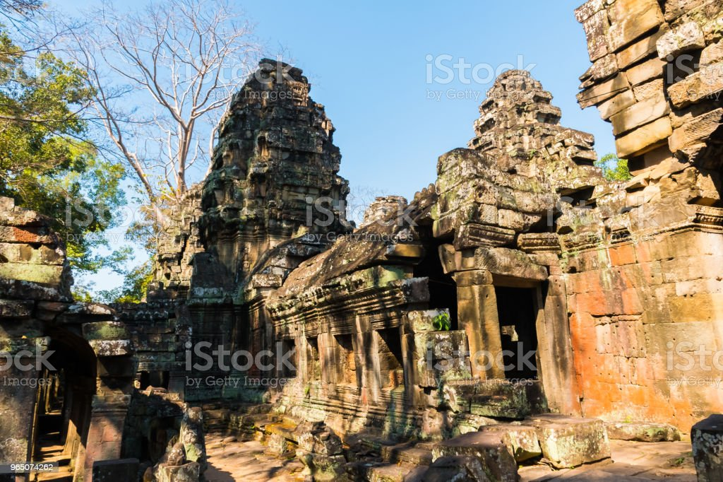 Banteay Kdei Temple in Angkor Wat complex, Cambodia royalty-free stock photo