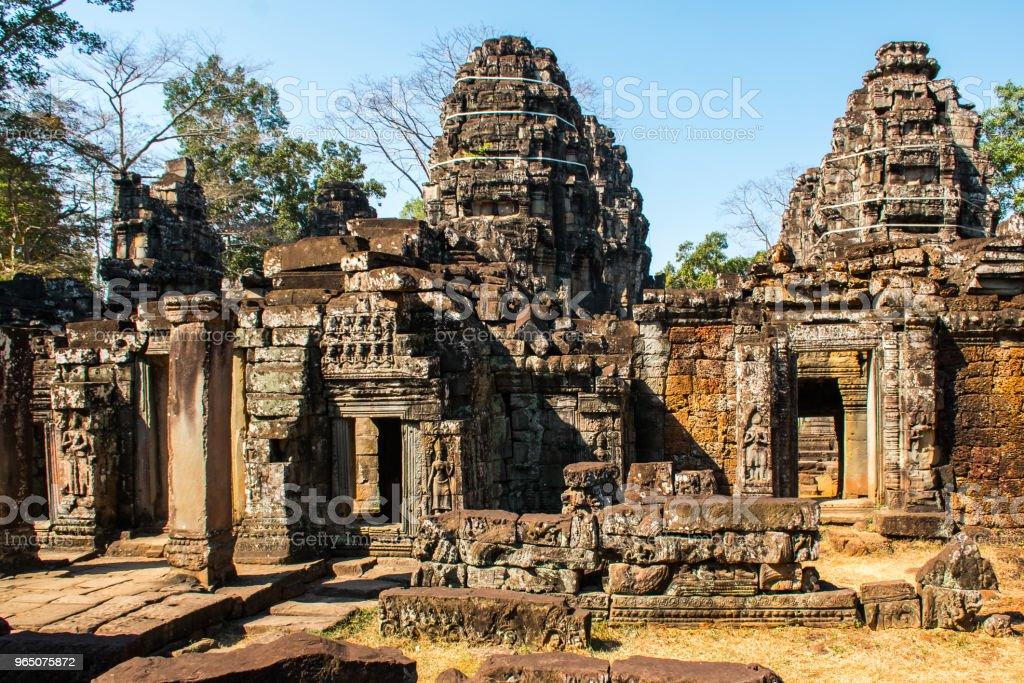 Banteay Kdei Temple in Angkor Wat complex, Cambodia zbiór zdjęć royalty-free