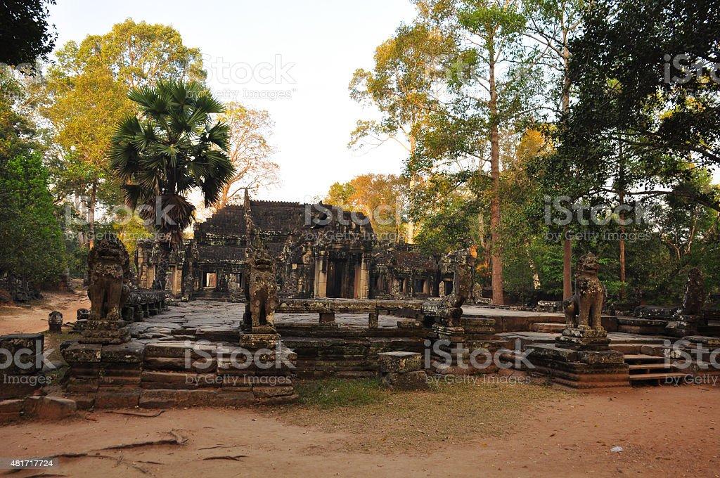 Banteay Kdei Temple in  Cambodia stock photo