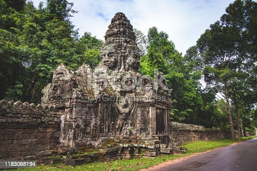 Banteay Kdei temple is Khmer ancient temple in complex Angkor Wat in Siem Reap, Cambodia