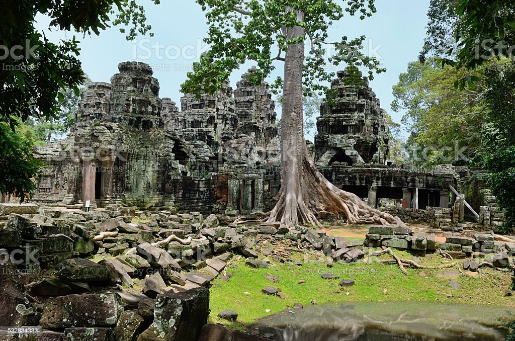 Banteay Kdei temple stock photo