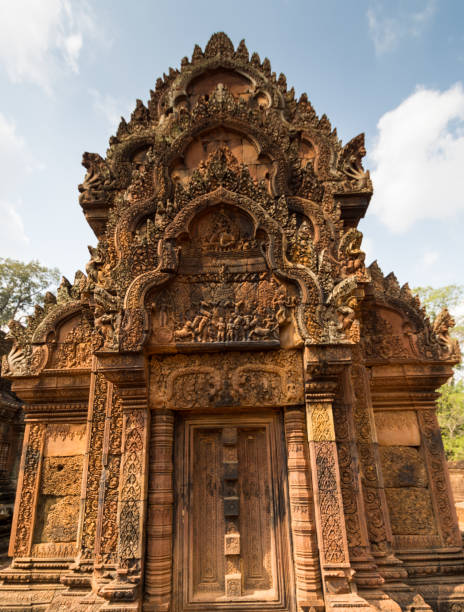 Banteay Srei Angkor Wat temple, Siem Reap, Cambodia stock photo
