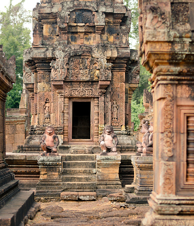 istock Banteay Srei gate, Angkor, Cambodia 1139124012