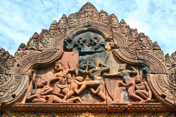 Banteay Srei in Diem Reap stock photo