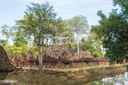 Banteay Srei temple, one of Angkor's highlights.