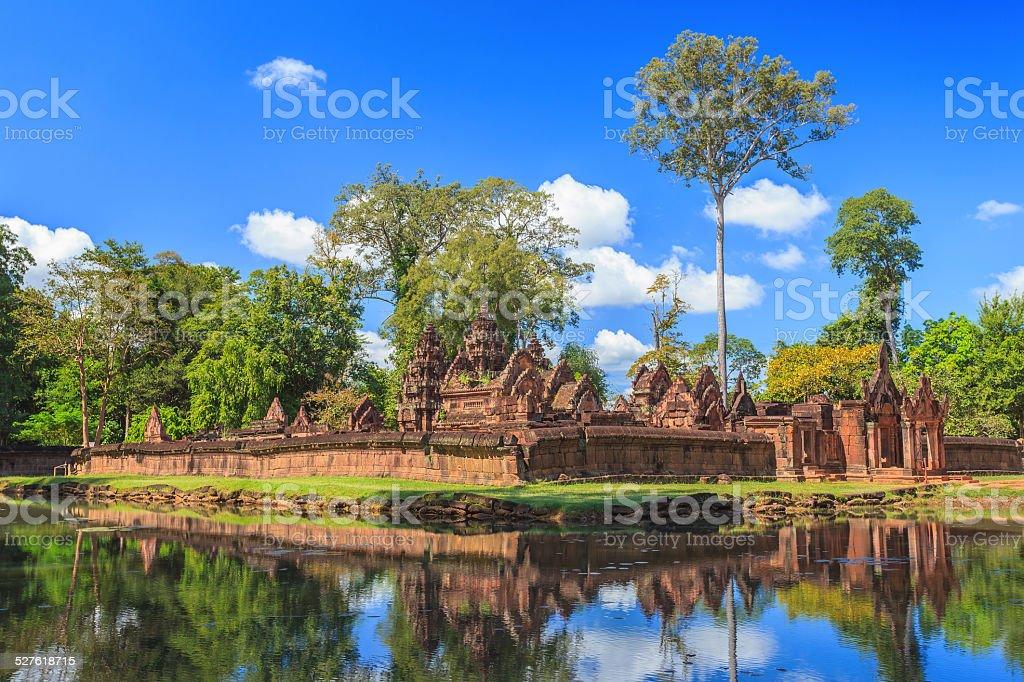 Banteay Srei Temple at Siem Reap stock photo