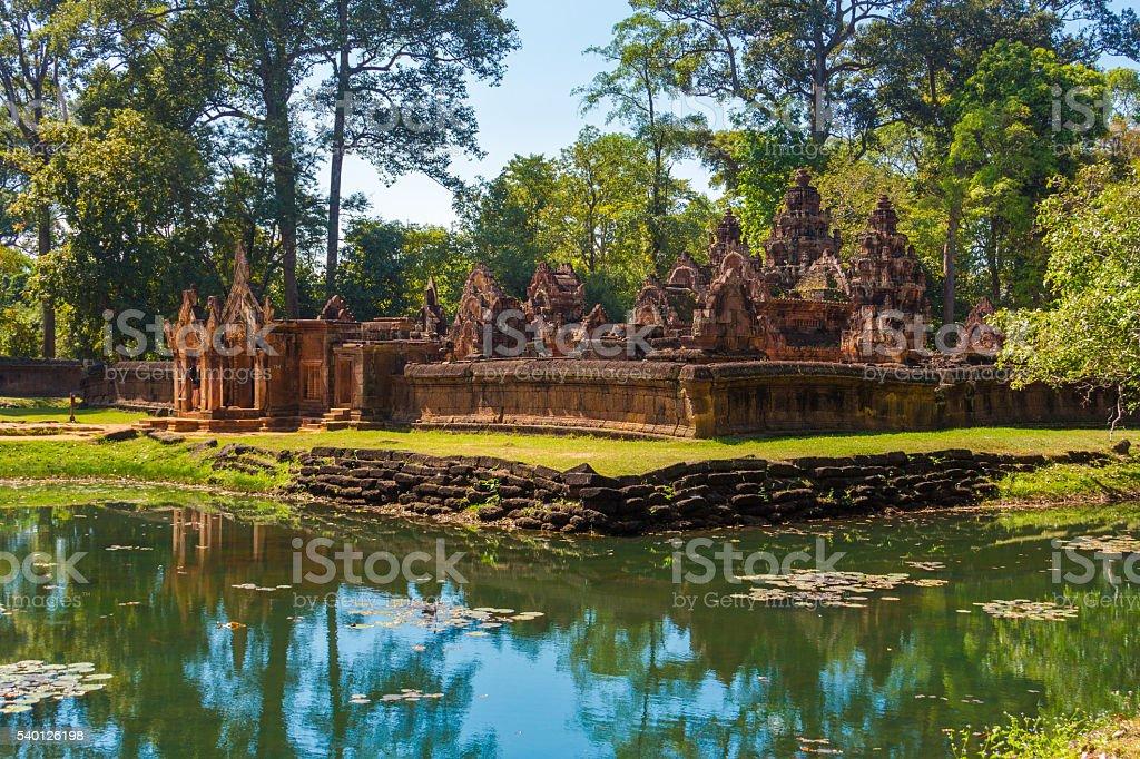 Banteay Srei Temple, Cambodia stock photo