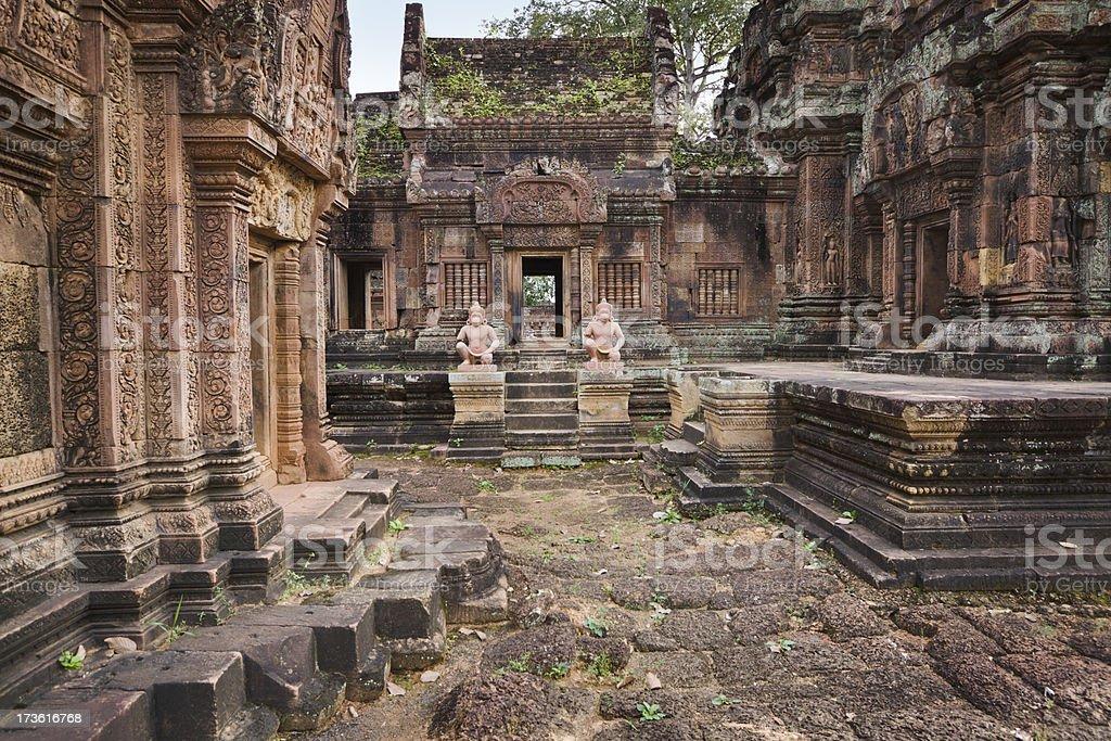 Banteay Srei Temple stock photo