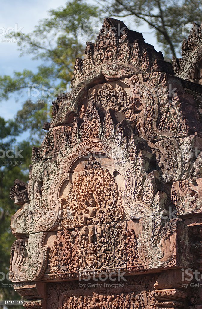 Banteay Srei Temple royalty-free stock photo