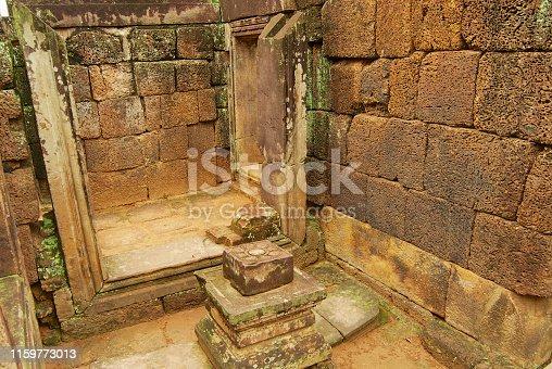 Banteay Srei Temple ruins in Siem Reap, Cambodia.