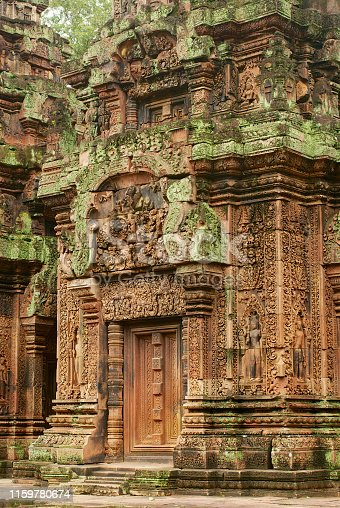 Banteay Srei Temple ruins in Siem Reap, Cambodia.