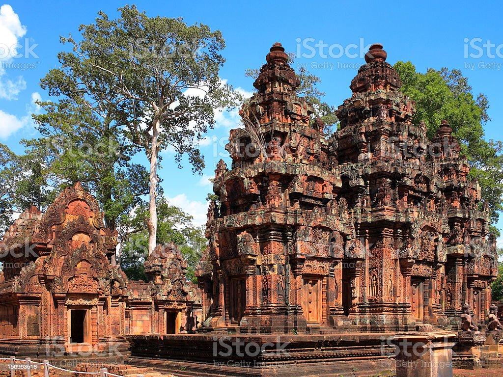 Banteay Srey, Cambodian royalty-free stock photo