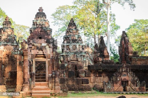 Banteay srey, ancient buddhist temple in angkor wat, cambodia