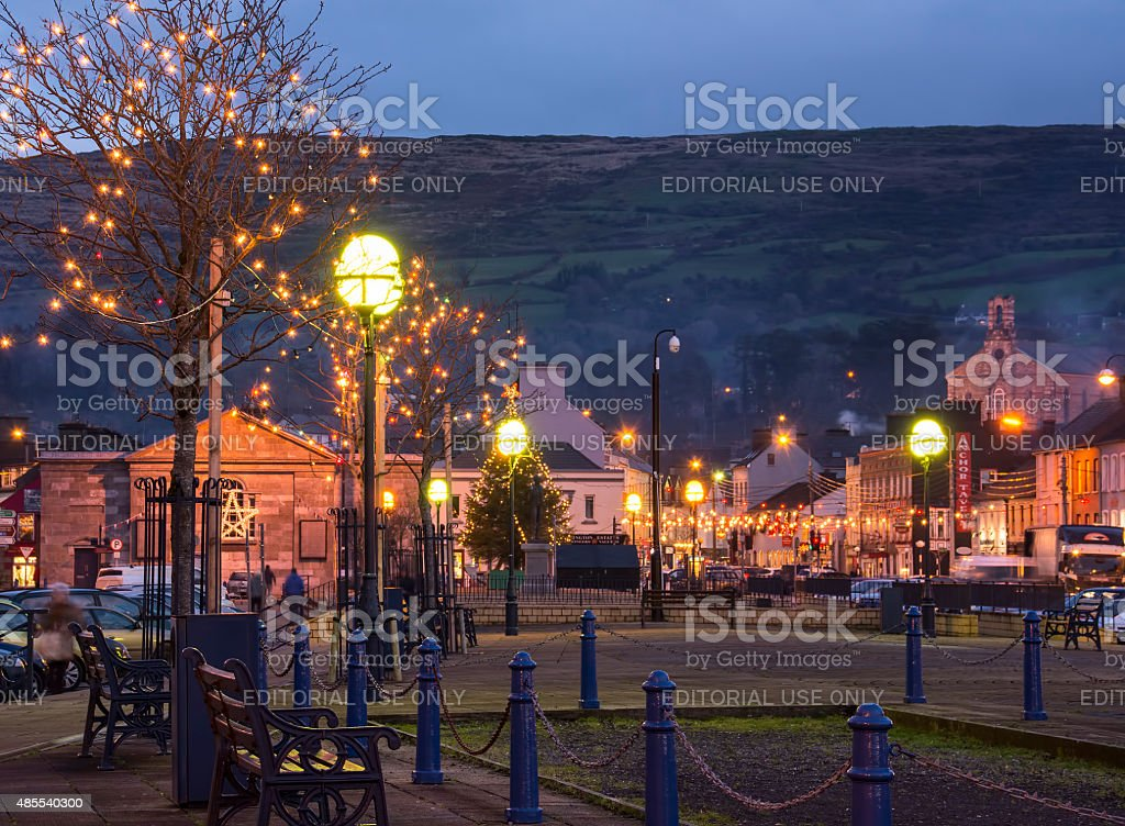 Bantry Christmas Lights stock photo