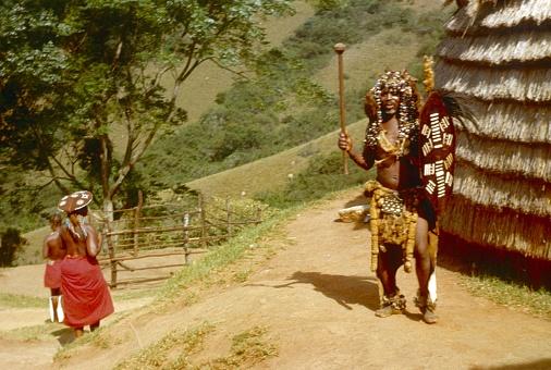 istock Bantu (Zulu) warrior in a tribal village in Natal, South Africa 1144140809