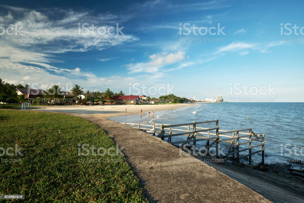 Banua Patra Beach stock photo
