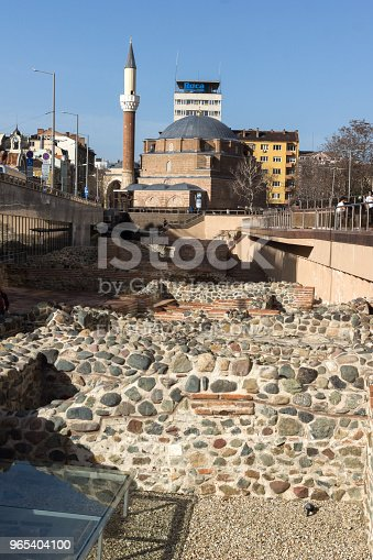 Banya Bashi Mosque And Ruins Of Ancient Serdica In Sofia Bulgaria Stock Photo & More Pictures of Ancient